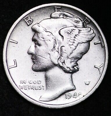 UNCIRCULATED1940 S Mercury Silver Dime FREE SHIPPING