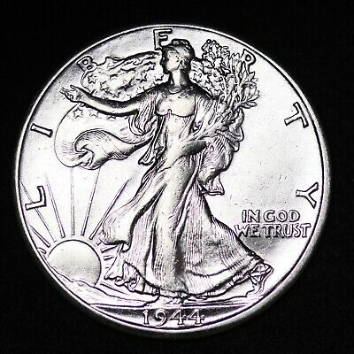 Uncirculted 1944 D Walking Liberty Silver Half Dollar Free Shipping