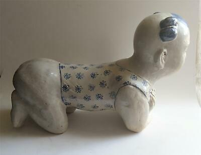 Antique Chinese Child Form Porcelain Opium Pillow 19th Century Or Earlier