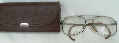 Pair Vintage Bifocal  Spectacles eye glasses in Original Case Peninsular Optical