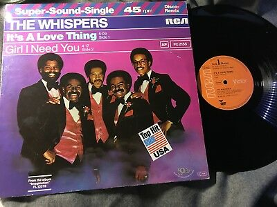 "WISPERS - it`s a Love thing 5:09 MAXI 12"" RCA Germany SOUL FUNK DISCO BOOGIE NM"
