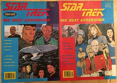 Star Trek The Next Generation TNG #1 & #2 Nov & Dec 1992 Art Cover Pheonix Press