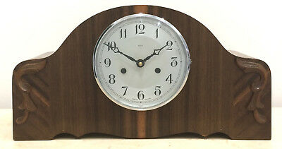 RESTORED to Battery Original Vintage Enfield Mantel Clock #1135