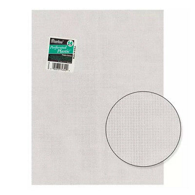 12 x Plastic Canvas Sheets - By Darice - 14 Count Mesh - #33275-1 - Clear
