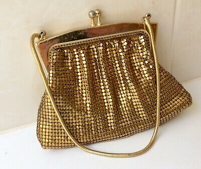 Vintage Gold Glomesh Coin Purse - Glomesh Evening Bag - Park Lane 1960's