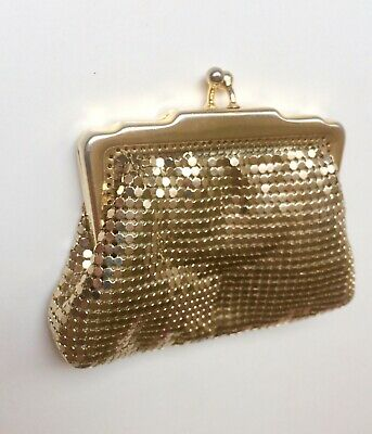 Vintage Gold Glomesh Coin Purse - Excellent Condition