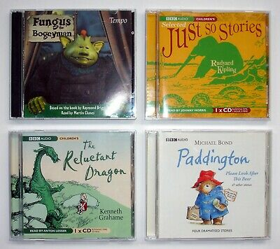 Collection of 4 Children CD Audio Books - Just So Stories, Fungus, Paddington..