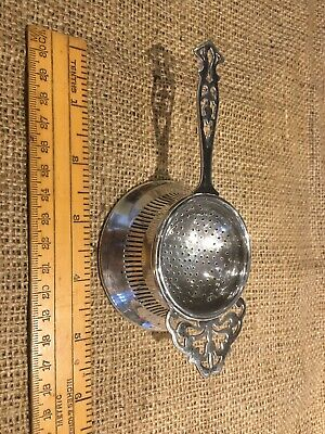 Vintage Tea Strainer Mappin & Webb Silver Plate