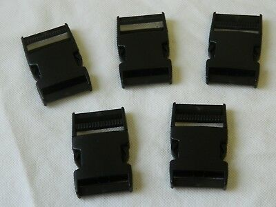 Delrin Black Plastic Side Release Buckles 38mm [M4C]