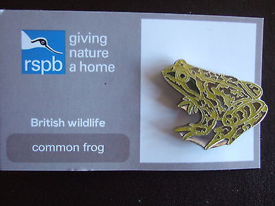 RSPB Pin Badge  COMMON FROG  Giving Nature a Home
