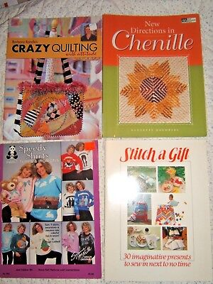 Lot of 17Clothing and Fashion Pattern Instruction Books-Sewing, Smocking, Paint