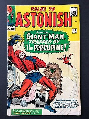 TALES TO ASTONISH #53. VG Rare Issue. Features Giant-Man and Wasp
