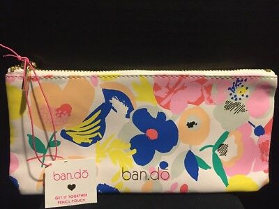 ban.do Mega Blooms Get It Together Pencil Pouch NWT