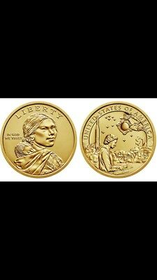 "2019 D&P Sacagawea Native Dollar US Mint Coin ""BU"" Space Program"