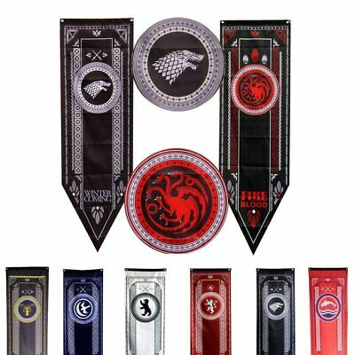 Game Of Thrones Banner Flag House of Stark Targaryen Lannister Tully Baratheon