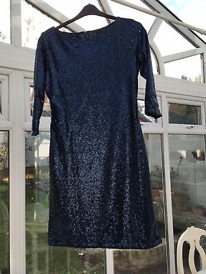 Alice & You Blue Sequinned Dress Size 16
