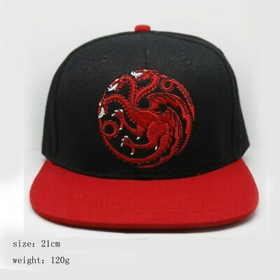 Game of Thrones Baseball Cap Targaryen Team Fire and Blood GOT Dragons Daenerys