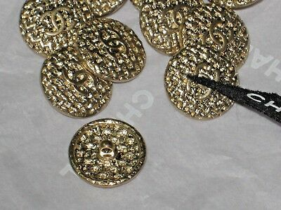Chanel 5 Buttons Matte Gold Cc Logo ,  10 Mm/ Small  New Lot 5 New Flawless