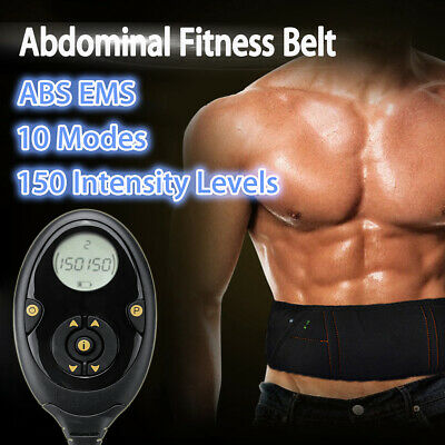 EMS Abdominal Fitness Belt Muscle Training Gear Rechargeable Toner-Core Toning