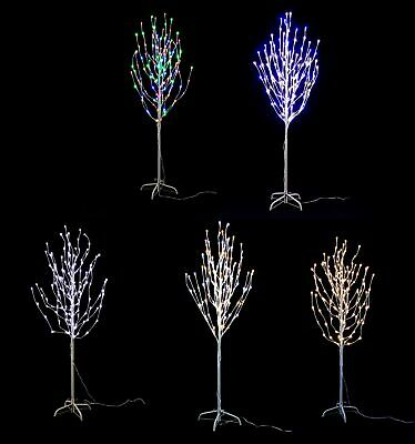 Jingles Pre-Lit Frosted Led Angel Christmas Twig Tree - Outdoor Various Colours