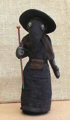 """Plague Doctor 10"""" fabric doll sewing pattern.  Historical art doll pattern"""