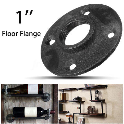 1'' Black Malleable Threaded Floor Flange Iron Plumbing Pipe Fitting Repalcement