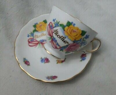 Vintage royal vale Bone China Cup Saucer With Mother