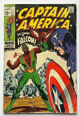 CAPTAIN AMERICA #117 VG- Key 1st Appearance Of The Falcon