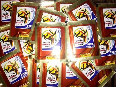 LOT 50 pochette de stickers PANINI  coupe du monde 2010 SOUTH AFRICA  !!!!