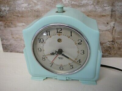 Smiths Sectric electric 1930s 1940s bakelite clock rare blue alarm for restore