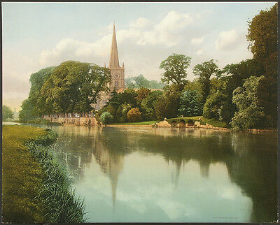 TRINITY CHURCH STRATFORD-ON-AVON ENGLAND Antique Rare Ea.1900's Chromolitho DPC