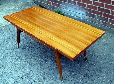 1950s original Gio Ponti D.859.1 style walnut large coffee occasional side table