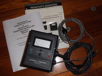 Resistivity Monitor WITH CELL; 0-20 megohm Myron L Ultrapure Deionized DI METER