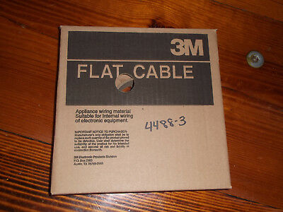 NEW 3M 3365/10 10-conductor Flat Cable 100' 100 ft. appliance wire 28 AWG gauge