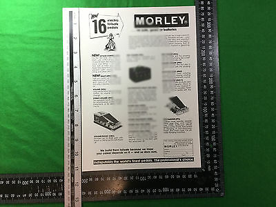 advert Morley effects pedals 1979 power wah fuzz pro flanger pro panner etc