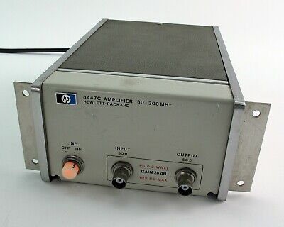 HP / Agilent / Keysight 8447C Power Amplifier 30-300MHz