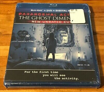 Paranormal Activity The Ghost Dimension Unrated Cut New Blu-ray + DVD + Digital
