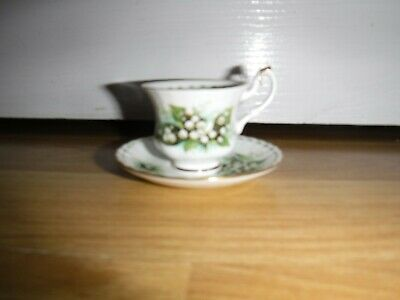 ROYAL ALBERT Flower Of The Month ~ MAY ~ Miniature Teacup & Saucer ~ Excellent