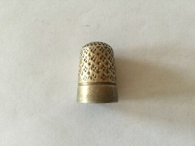 Antique (1905) Charles Horner Fully Hallmarked Sterling Silver Thimble - Size 6