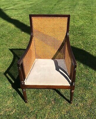 Vintage Caned Chair Rattan Retro Vintage Armchair Desk Bedroom