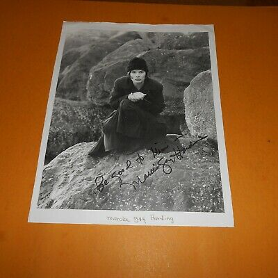 Marcia Gay Harden is an American actress Hand Signed 8.5 x 11 Page