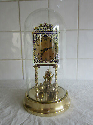 400 day Anniversary Clock with Enamel Dial-with Dome-Kienzle-Spares /repairs