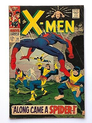 X-MEN #35 FN- 1st Appearance Changeling. Spider-Man Crossover