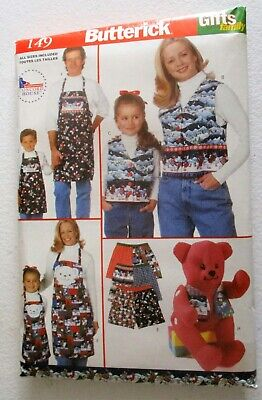 Vintage Butterick 149 - Gifts for the Family Sewing Pattern 1997- FREE SHIPPING!
