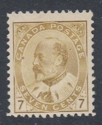 "Canada MINT OG Scott #92 7 cent olive bistre ""King Edward VII""   F"