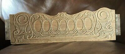 Wood Architectural Salvage Pressed Vintage Chair Back Crest Pediments Primitive