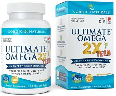 (60g, 61,83 EUR/100g) Nordic Naturals Ultimate Omega 2X TEEN - 60 softgels