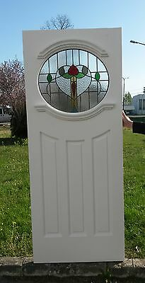 1930's Oval front door with stained glass.
