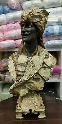 Stunning 19th Century Rare Antique Orientalist French Spelter/Metal Bust