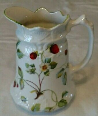 Vintage Pitcher by James Kent Old Foley Strawberry Pattern